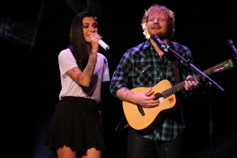Ed Sheeran and Christina Perri