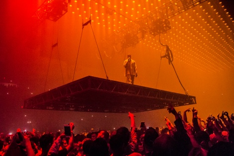 Photos Kanye West Brings The Saint Pablo Tour To Chicagos Allstate